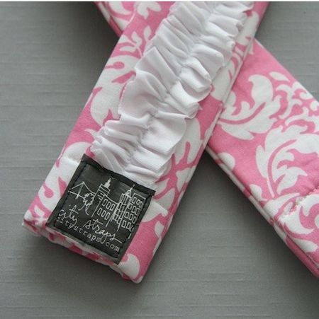 Pinkand white strap
