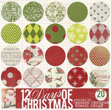 JS-HKS12Days of Christmas paper preveiw