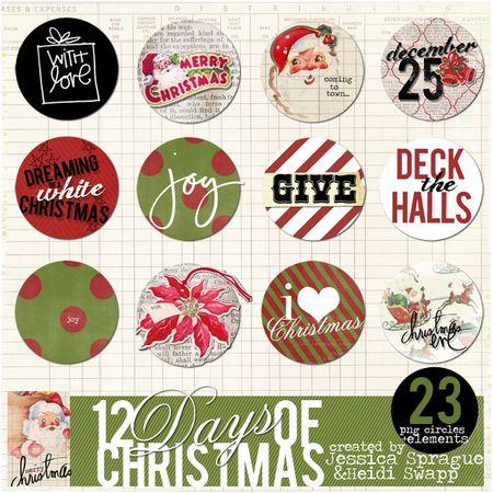 JS-HKS Christmas Circle elements